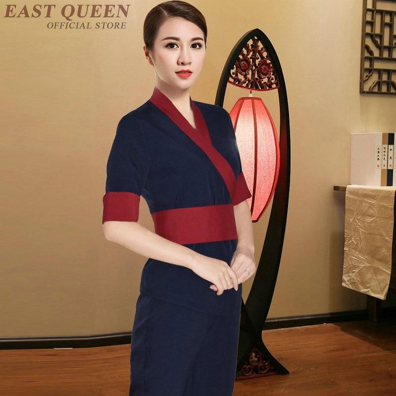 Beauty Salon Thai Massage Uniform Clinical Beautician Uniforms Woman Female Clothing 2 Piece Pants Sets DD1358