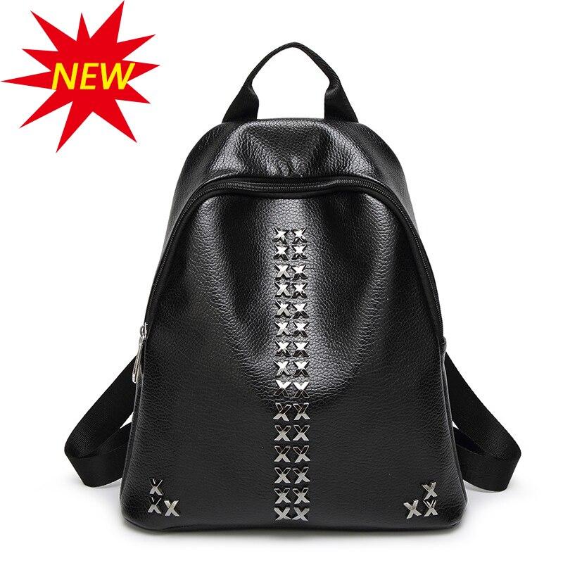 2017 woman brand backpack school teenager girls bag black summer personalized travel backpack fashion bolsas mochilas