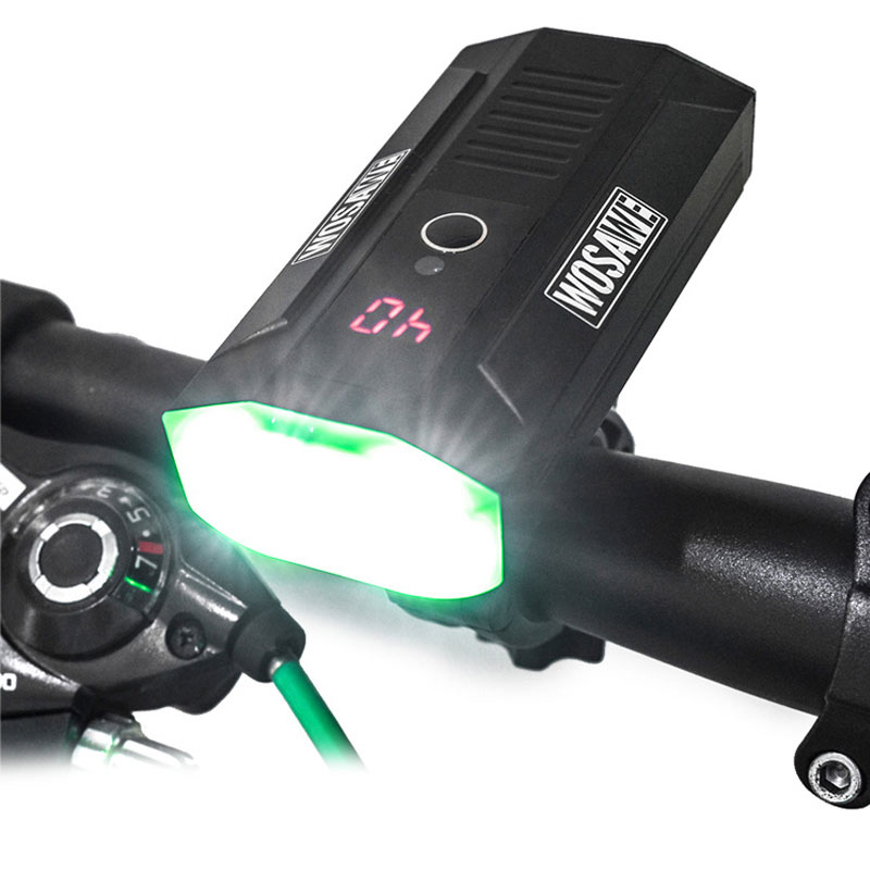 Waterproof USB Rechargeable Bicycle Lamp 150 Degree Flood Light Overheat Protection Cycling Light Built in Battery