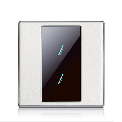 HUANGXING UK Standard, Touch Remote Control Light Switch, 2Gang1Way Acrylic Touch Panel Wall Switch, With LED Indicator, SRL0101 smart home us black 1 gang touch switch screen wireless remote control wall light touch switch control with crystal glass panel