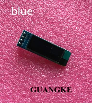 1pcs 0.91 inch OLED module 0.91 blue OLED 128X32 OLED LCD LED Display Module 0.91 IIC Communicate (blue)