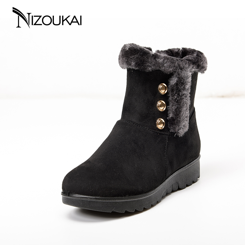 Winter Boots Women 2018 Fashion Women Snow Boot Botas Mujer Shoes Women Winter Warm Fur Ankle Boots For Women Winter Shoes new 2017 fashion cartoon fur female warm ankle boots women boots snow boots and autumn winter women shoes botas mujer z231