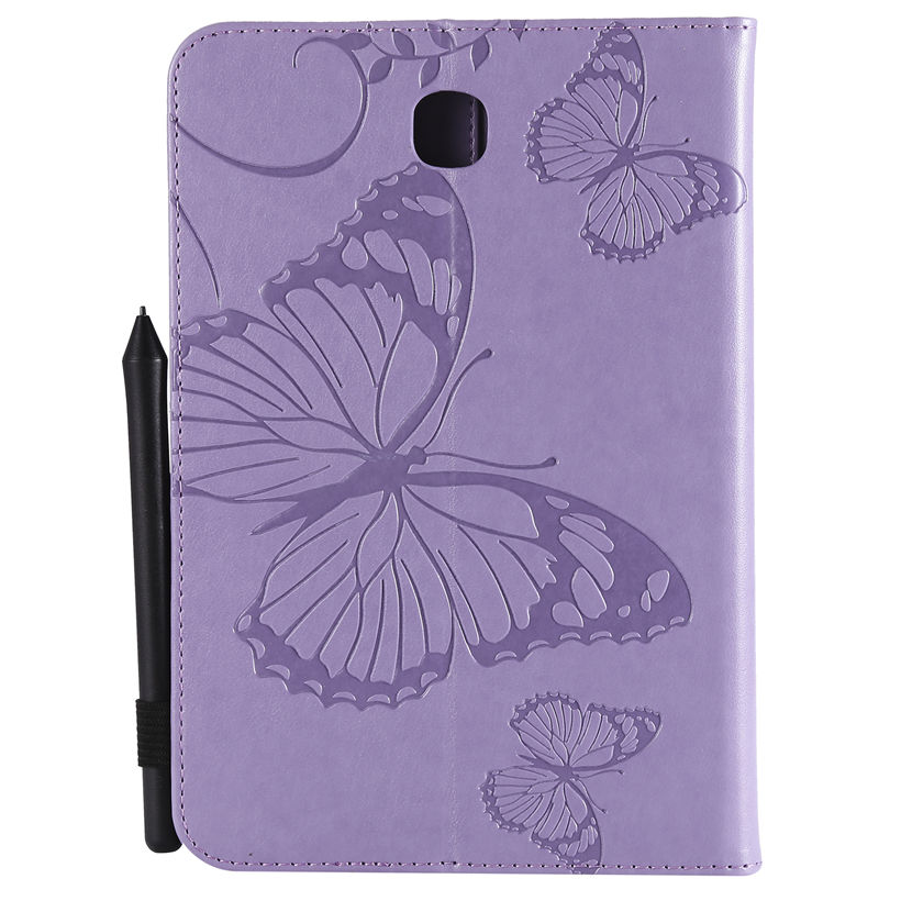 T350 Case For Samsung Galaxy Tab A 8.0 SM-T350 T355 SM-T355 P350 P355 Cover Funda Tablet Butterfly Embossed Pattern Stand Shell