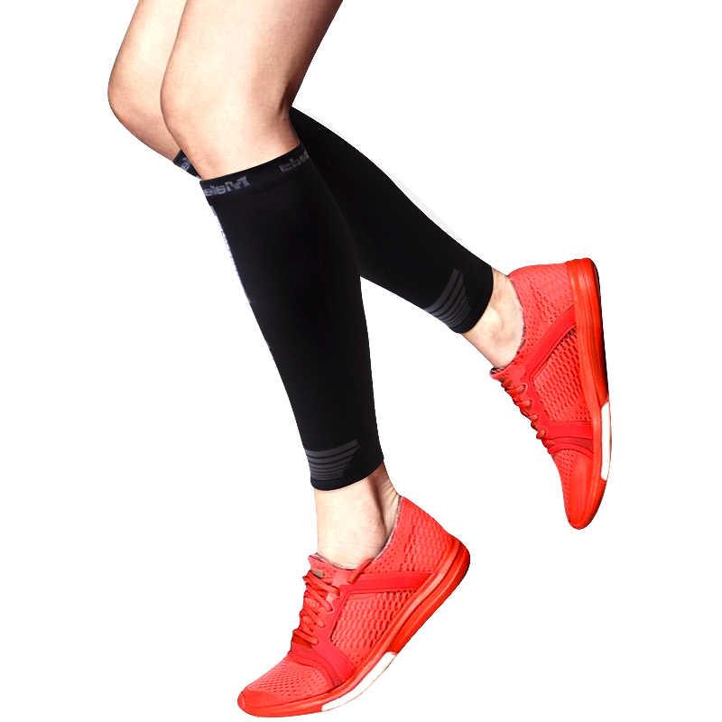 スポーツランニングレッグウォーマー脚圧縮ソックスふくらはぎスリーブサイクリングレッグウォーマー男性女性脚スリーブヘルプすねスプリント 1 ペア