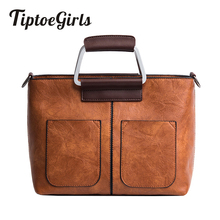 Купить с кэшбэком Tiptoegirls Vintage Women Handbag  Fashion Casual Tote Small PU Leather Women Bag Drop Shipping Girls  Shoulder Messenger Bag