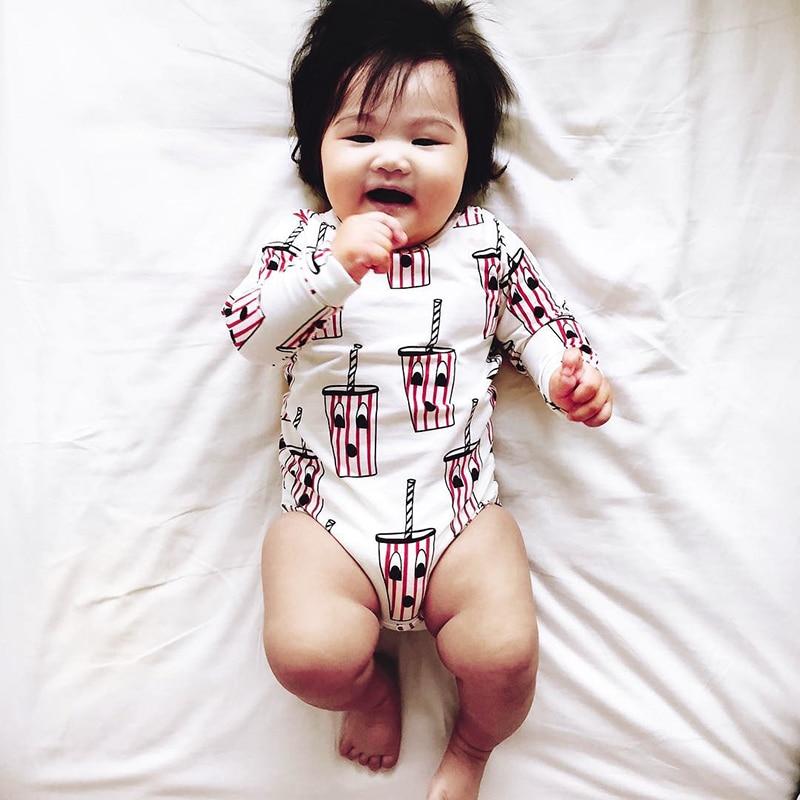 2018 Lato Bobo Choses Tiny Cottons Cherry Cerejas Drukuj Body Boys - Odzież dla niemowląt - Zdjęcie 3