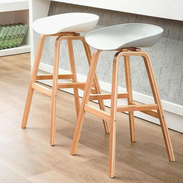 Nordic Solid Wood Bar Chair Bar Chair Bar Stand Modern Simple Stand Household Leisure Bar Chair Cafe Stand