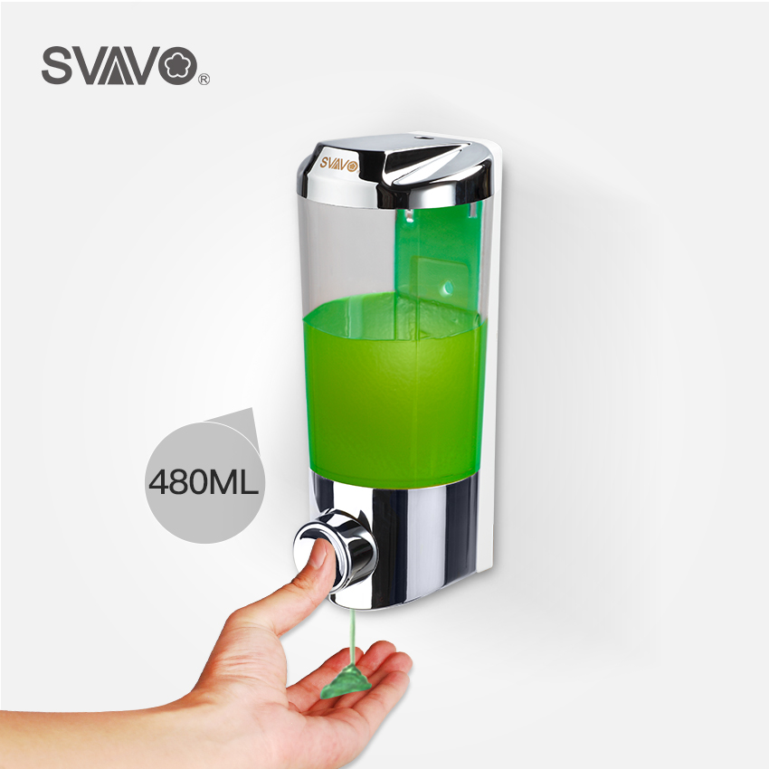 SVAVO Wall Mounted  ABS Hand Press Manual Liquid Soap Dispenser For Kitchen Bathroom