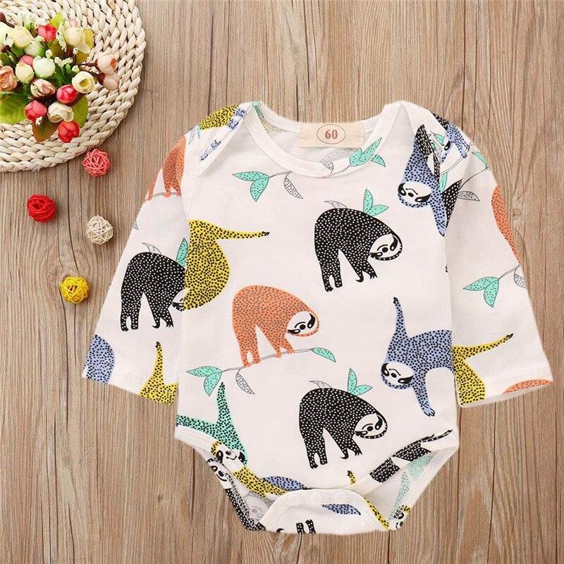Review Kinderkleding.Toddler Jumpsuits Baby Boy Girls Cartoon Sloth Print Romper Newborn