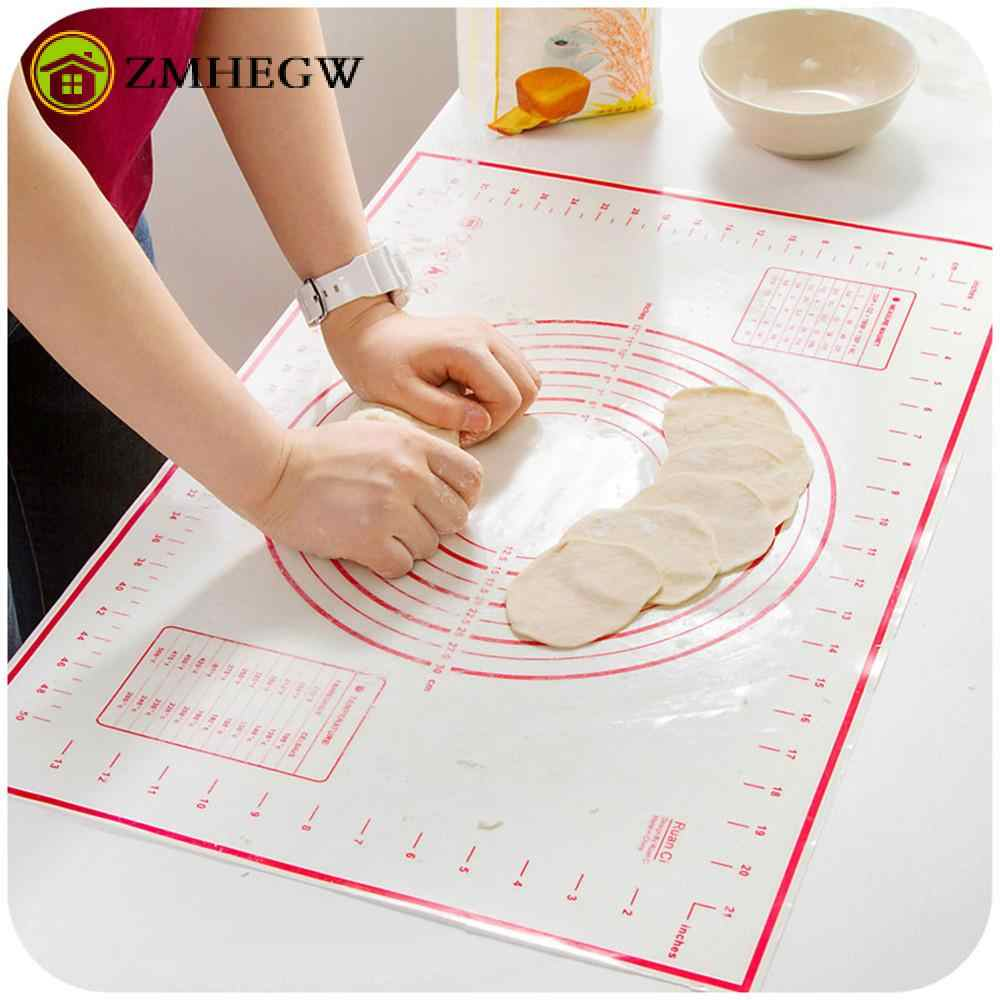 Cake Dough Mat Silicone Baking Tools Soft Rolling Pastry Boards Kneading Baking Mat With Scale High Temperature Resistant