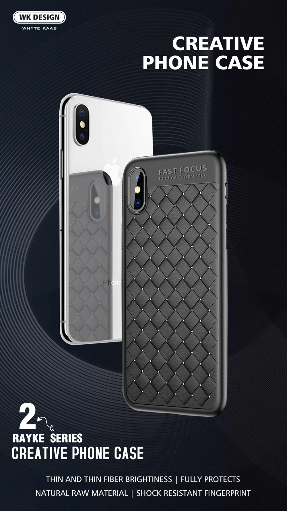 buy online e9011 a865e WK Design Luxury Grid Phone Cases For iPhone X Ultra Thin Soft TPU  Protective Cover Cases For iPhone 7 8 Plus Phone Accessories
