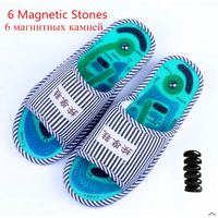 Summer Reflex Foot Acupoint Massage Slippers Acupuncture Sandals Healthy Foot Care Shoes Striped Pattern Indoor