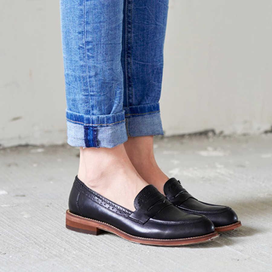 100% Echte schapenvacht lederen brogues designer dame vintage flats schoenen handgemaakte oxford schoenen voor vrouwen bruin grijs zwart rood