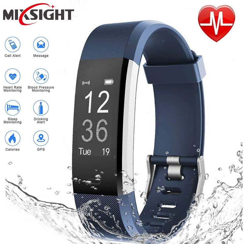 zk20 115 Waterproof Sports Smart Watch Heart Rate Fitness Tracker Smart Wristbands For Android IOS Smart Bracelets dropshipping fitbit watch