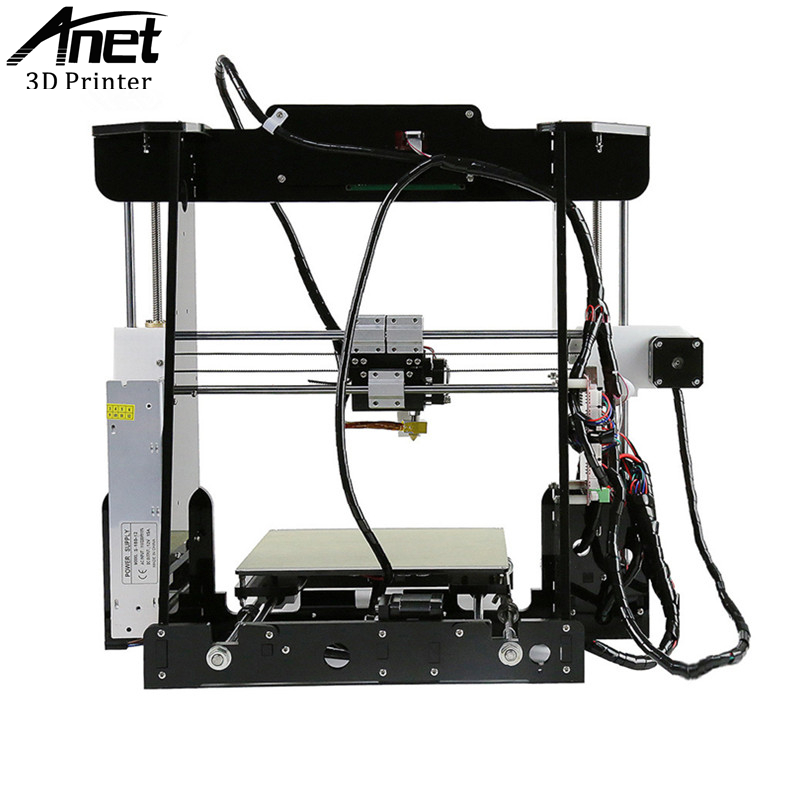 ANET A8 High Quality Desktop Full colors 3d printer Reprap Prusa i3 precision with Roll Kit DIY Filament 8GB SD card LCD screen anet a8 3d printer reprap prusa i3 precision 2 kit diy easy assemble filament machine hotbed sd card lcd screen