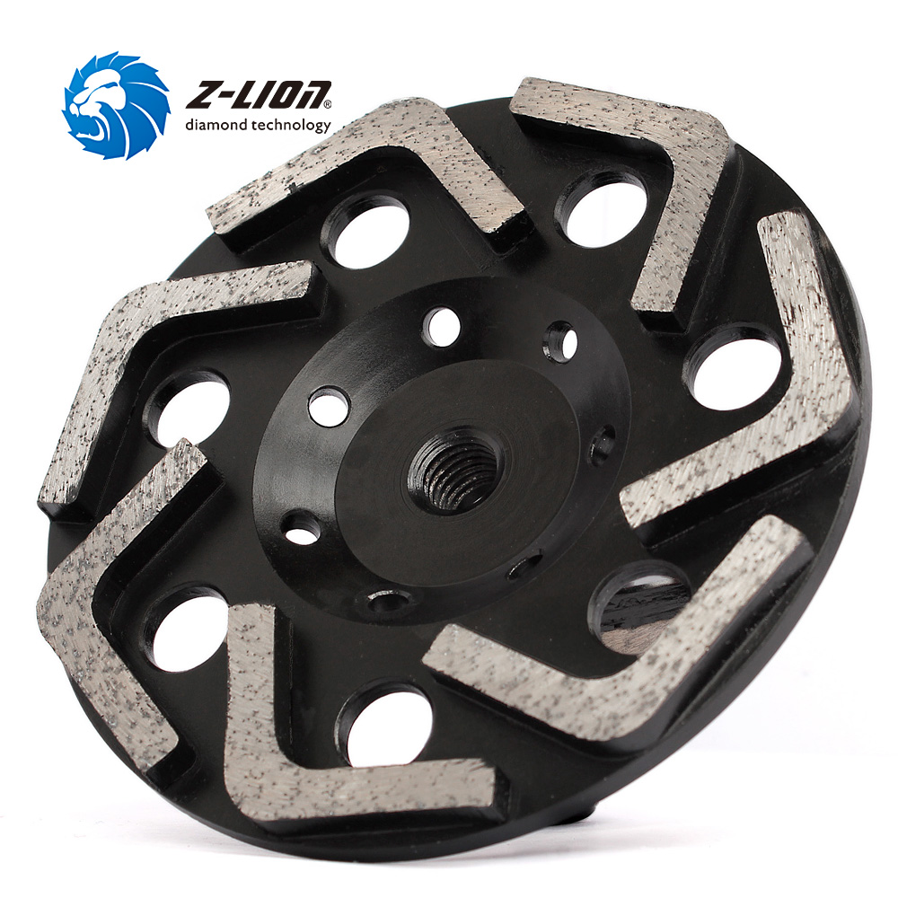 Z LION 6 Inch Cup Grinding Wheel 150mm L Type Segments Grinding Disc For Concrete Abrasive