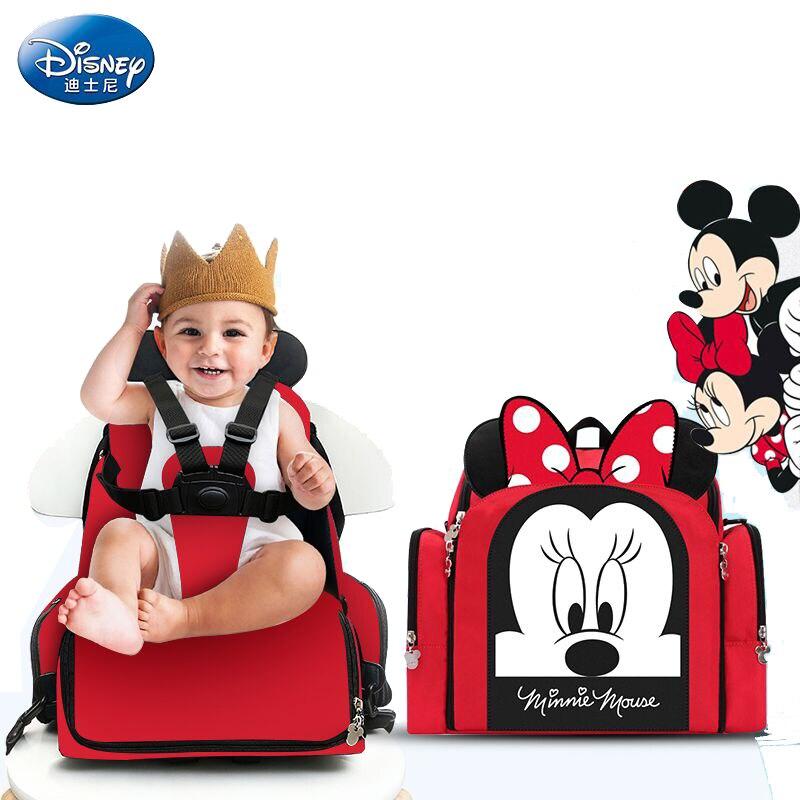 Disney 2019 Mickey Minnie Mochila Maternidade imperméable bébé nourriture thermos sacs bouteille alimentation sac à dos bébé salle à manger chaise sac