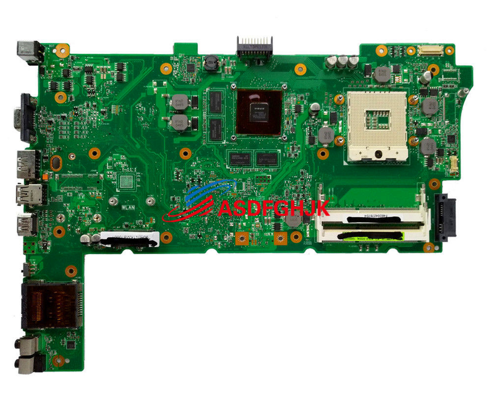 Original FOR ASUS N73J N73JG N73JF Mainboard REV:2.1 Support i3 /i5 CPU