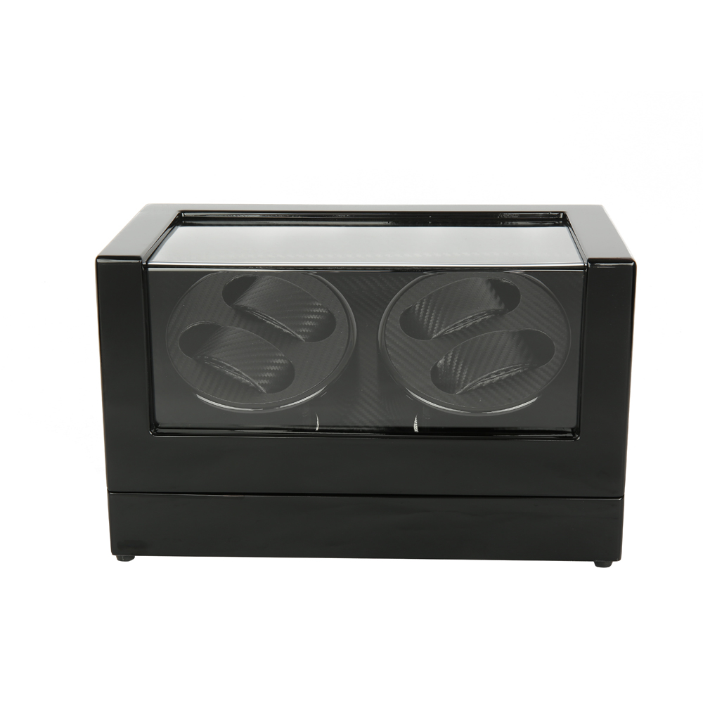 Watch Winder ,LTCJ Wooden Automatic Rotation 4+0 Watch Winder Storage Case Display Box (BL) watch winder lt wooden automatic rotation 2 0 watch winder storage case display box outside is rose red and inside is white