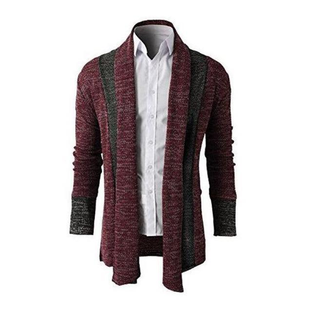 2016 Nuevos Hombres Suéter de Primavera Costura Cardigan Delgado Mens Casual Tamaño de La Chaqueta M-XXL Envío Libre