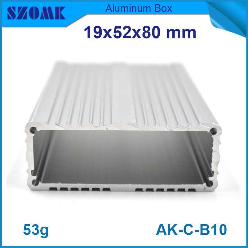 US $42 0 |aluminium extrusion enclosure (20pcs) small silver heatsink  housing for GPS tracking 19*52*80mm-in Connectors from Lights & Lighting on