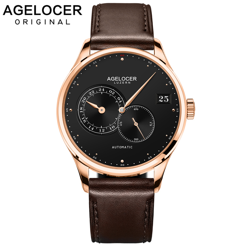 AGELOCER Automatic Mechanical Men Watches Brand Luxury New 2017 Male Clock Wrist Watch Man Watch Montre Homme Relogio Masculino