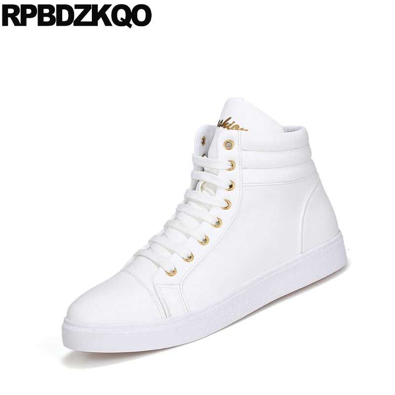 d152dc3ff ... Stylish Sneakers Lace Up Red White High Top Winter Men Boots With Fur  Waterproof Cheap Designer ...