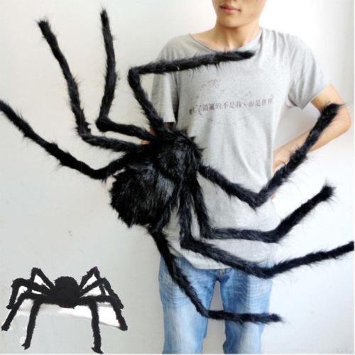 1PCS Halloween Spider Toys 30cm 50cm 75cm Plush Spiders Haunted House Festival Jokes Toy