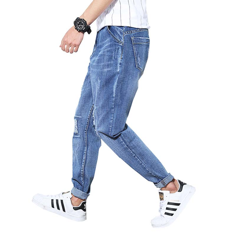 7624155a2c0 Fashion Ripped Jeans For Men Plus Size Baggy Jeans Stretch Jeans Hombre Hip  Hop Hole jeans Loose Harem Pants Pencil Pant-in Jeans from Men s Clothing  on ...