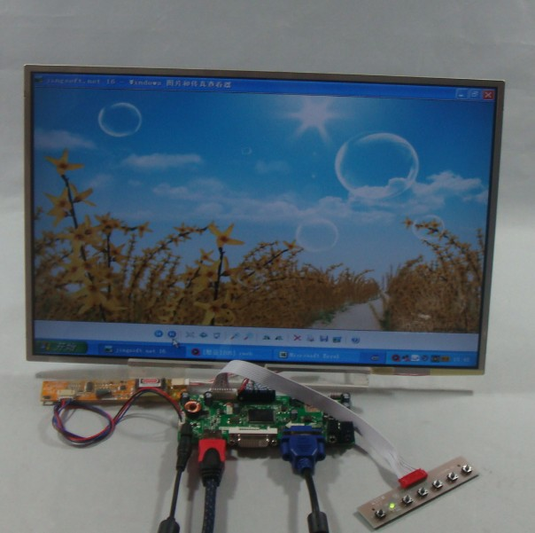 HDMI+VGA+DVI+Audio LCD controller board + 17inch B170UW01 1920*1200 lcd panel переходник aopen hdmi dvi d позолоченные контакты aca311