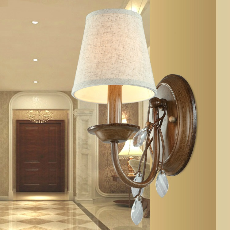 American country bedroom bedside wall lamp antique wall lighting mirror aisle zzp FG580 american country antique wooden dining room bedroom wall lamp simple aisle stairs lighting