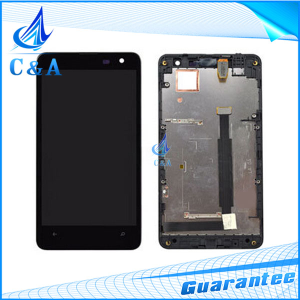 1 piece tested free shipping replacement part 4.7 inch screen for nokia lumia 625 N625 lcd display+touch digitizer with frame