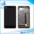 1 unidades probado envío gratis pieza de recambio pantalla de 4.7 pulgadas para nokia lumia 625 n625 lcd display + touch digitalizador con marco