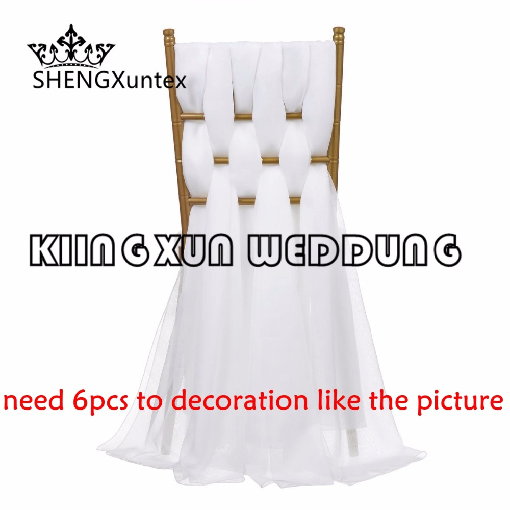 Organza Chair Sash  Chair Hood For Chiavari Chair Decoration Free Shiping