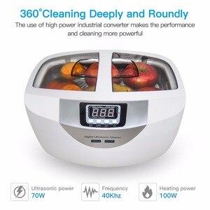 Image 2 - Numérique nettoyeur à ultrasons paniers bijoux montres dentaire 2.5L 60W 40kHz chauffage ultrasons nettoyeur de légumes à ultrasons bain
