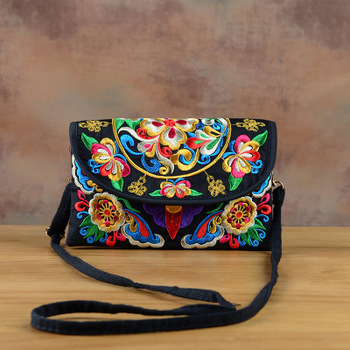 Fashion Embroidery Small Women bags!Nice Floral Embroidered Lady Cute Shoulder&Crossbody bags National Canvas Double-layer bags embroidery