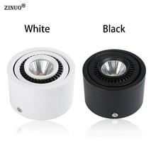 Zinuo поверхностного монтажа Светодиодные пятно света 360 градусов вращения Светодиодные точечные светильники 5 Вт 7 Вт 9 Вт 20 Вт удара Светильники AC85-265V светодиодный потолочный Лампы для мотоциклов