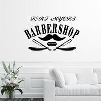 Barber Shop Sticker Chop Bread Decal Haircut Shavers Posters Vinyl Wall Art Decals Decor Windows Decoration