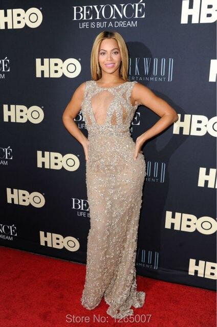 Beyonce Kleid Scoop Ausschnitt Nice Prickelnde Perlen Perlen Couture ...