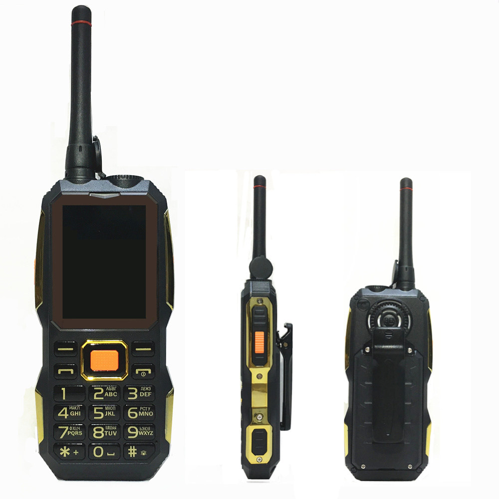 Walkie Talkie <font><b>power</b></font> bank wireless FM mobile phone Rugged shockproof china cheap Cell Phones russian keyboard button H-mobile