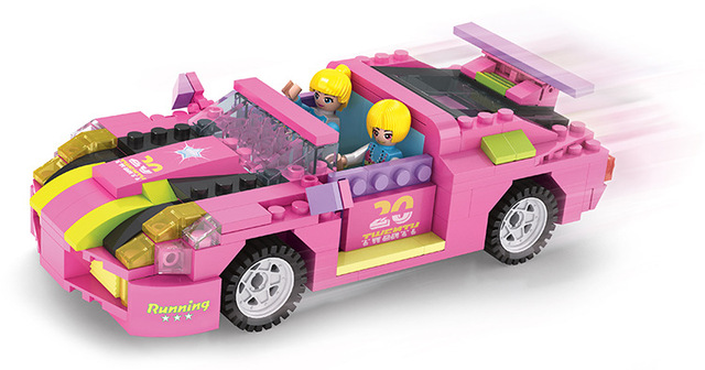 256 Pcs Building Block Sets New Friends Series 14506 COGO Dream Car For Girls Educational DIY