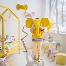 Nordic style fashion animal head zebra elephant giraffe wall decoration wall hanging kindergarten children's room decoration