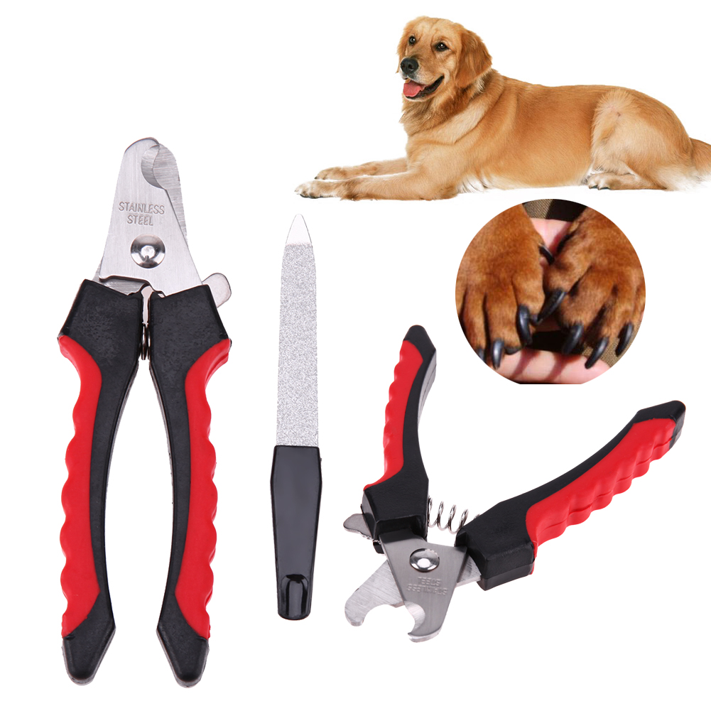 Stainless Steel Dog And Cat Nail Clippers with Nail File To Grooming Your Pet Nails
