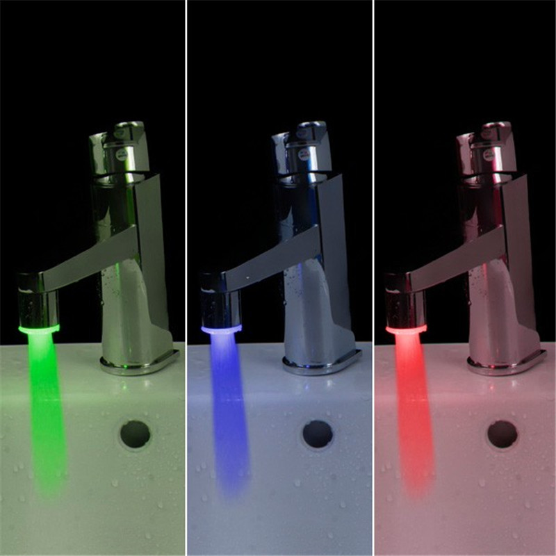 Лидер продаж 1 шт. Новый латунь RGB светодиодный свет потока воды авто кран круглый разъем Ванная комната Лидер продаж