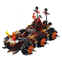 544pcs LEPIN 14018 Nexus Knights General Magmar's Siege Machine Of Doom Building Blocks Minifigures Toys For Children