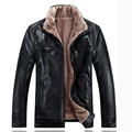 Winter leather jackets Men Faux Fur Coats casual motorcycle leather jacket Thicken Outwear Overcoat For Man large size 5XL A0322