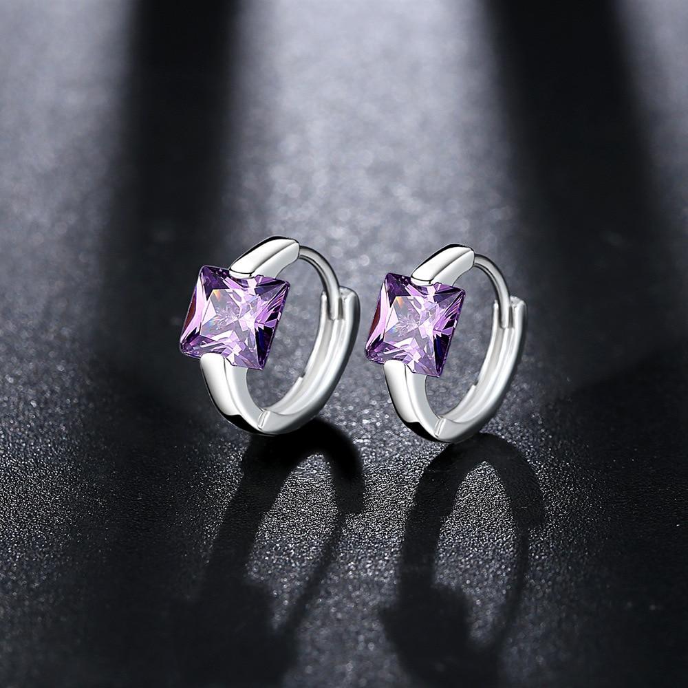 Luxury Ear Stud Earrings For Women Round With Cubic Zircon Charm Flower Stud Earrings Women Jewelry Gift