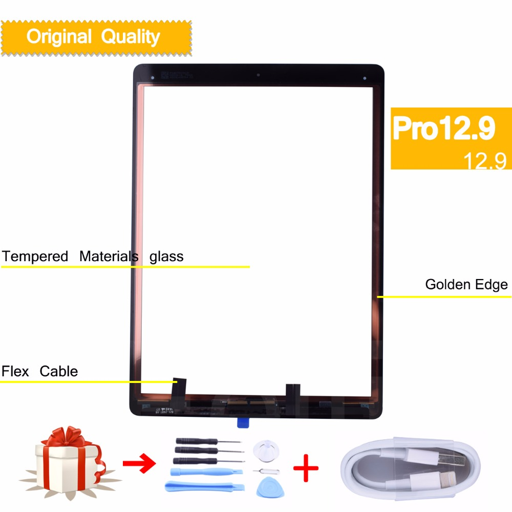 original New Touch Screen for apple iPad Pro 12.9 Display Front Glass Panel Digitizer Replacement (2015 Version) A1584 A1652 1pcs for ipad pro 12 9 2015 version a1584 a1652 touch screen digitizer front outer panel glass tools