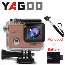 Ntk96660 YAGOO8 16MP camera action 4k 24FPS WiFi go pro camera under water sports helmet diving extreme evidence d A Gua