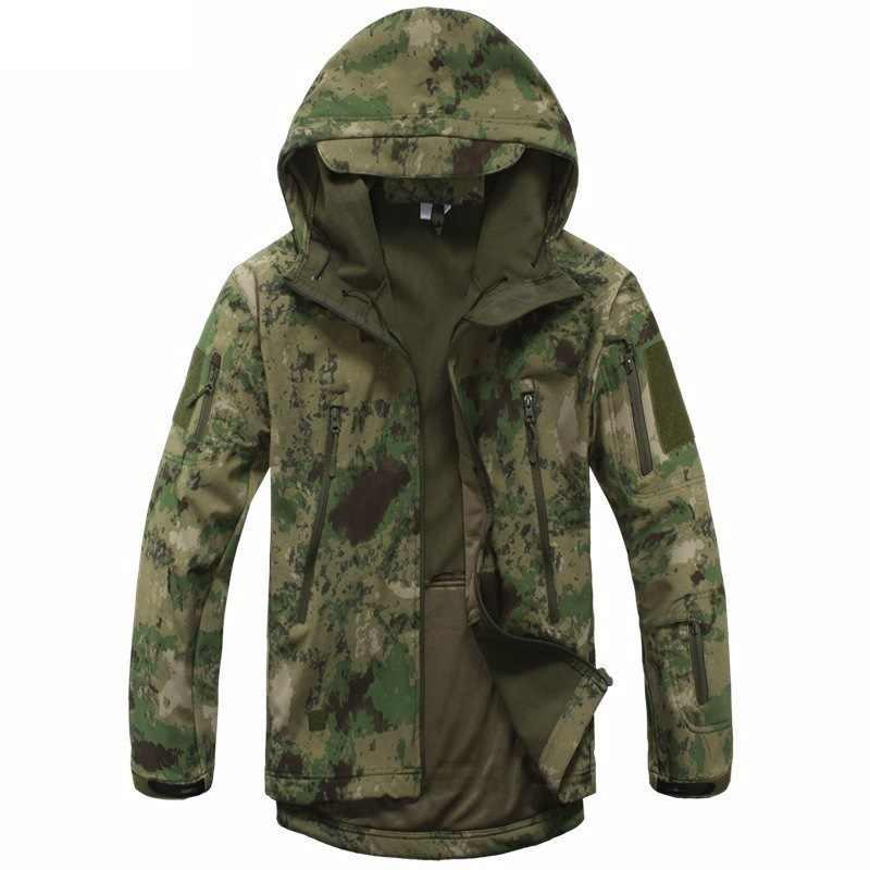Nova Camuflagem Digital Artes Tático Militar Do Exército Homens Jaqueta Softshell À Prova D' Água Roupas de Caça de Inverno Jaquetas Esporte Ao Ar Livre